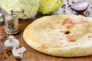 Пирог с капустой и грибами (постный)