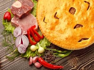 Пирог с мясом (Фыджын)