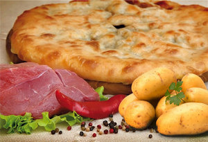Пирог с картофелем и мясом